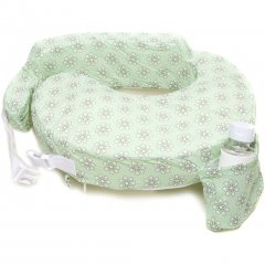 My Brest Friend Nursing Pillow - Greenwhite Flowers