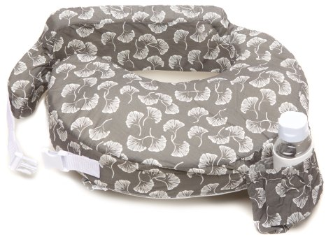 My Brest Friend Nursing Pillow - Gray Fans Pink - Click Image to Close