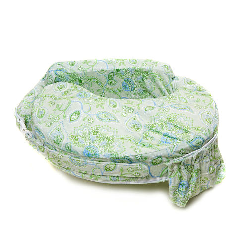 My Brest Friend Nursing Pillow - Green Paisley - Click Image to Close